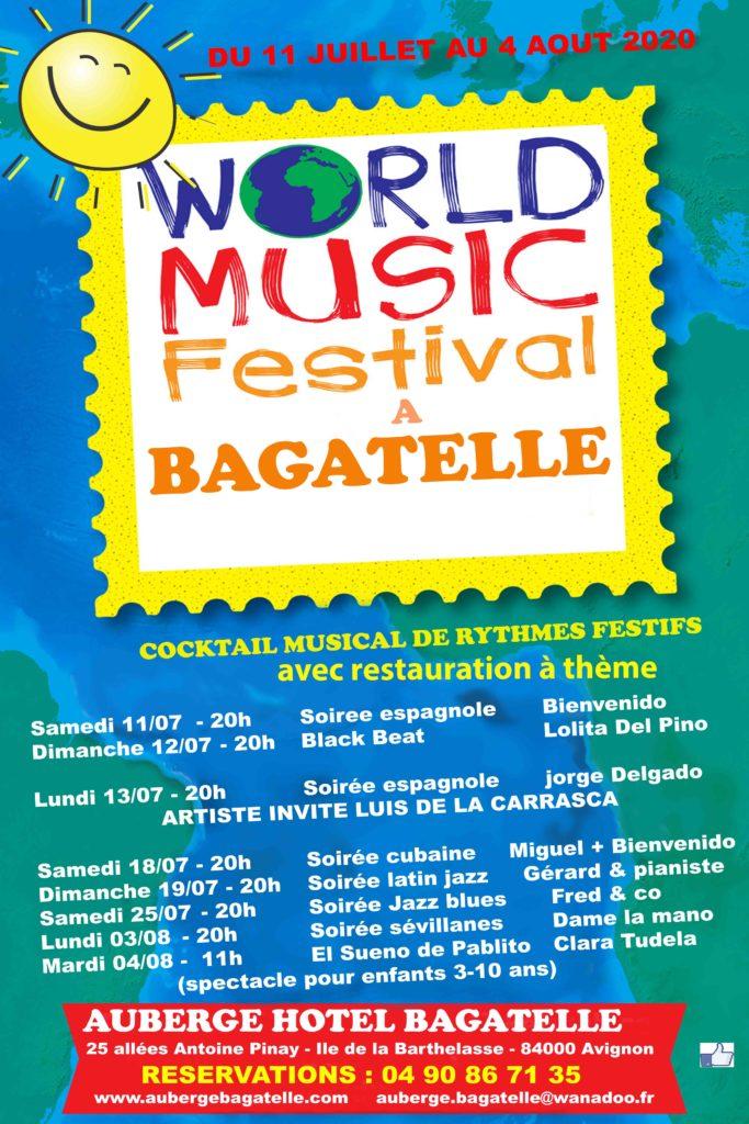 """Nouveau programme """"world music festival"""" au restaurant Bagatelle"""